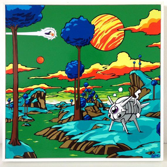 Namek, 30 x 30 cm Tape art