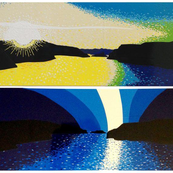 2x 60 x 20 cm, sur pvc, 2013