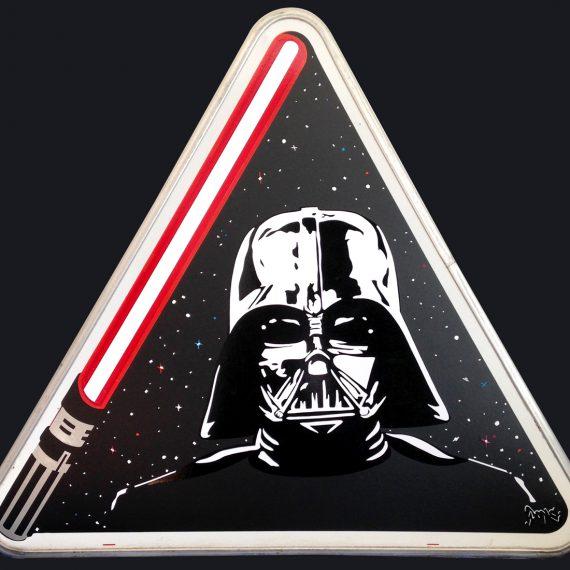 41 cm de côté, sur panneau métallique réformé, 2015. Disponible à la vente : 249 €.