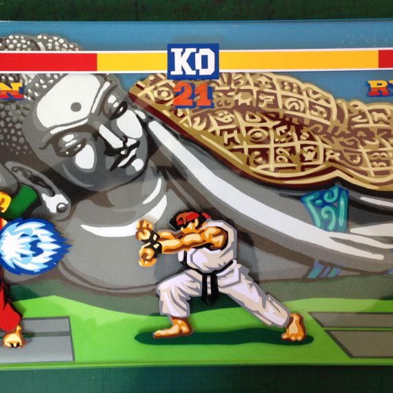 Street Fighter Tape Art
