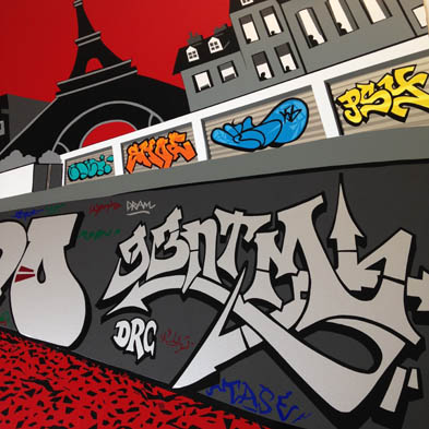 tape art graffiti ntm