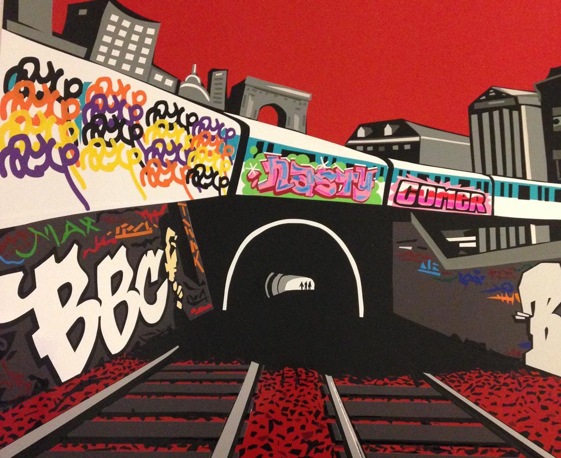 tape art graffiti ntm